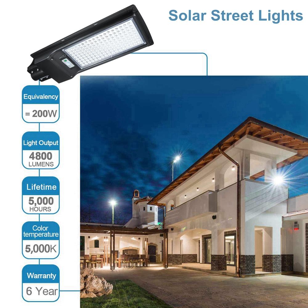 AUGIENB 200W 136 LED Solar Motion Sensor Light Odr Waterproof Security Lamp
