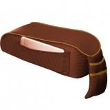 Universal Car Central Memory Foam Armrest Box Cushion Car Armrest Box Mat with Storage Bag (Coffee)
