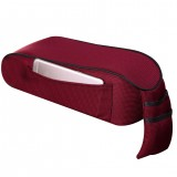 Universal Car Central Memory Foam Armrest Box Cushion Car Armrest Box Mat with Storage Bag (Wine Red)