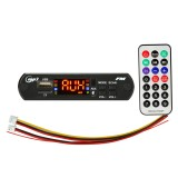 Car 5V Audio MP3 Player Decoder Board FM Radio TF USB 3.5mm AUX, with Bluetooth Function & Remote Control