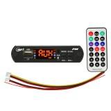 Car 12V Audio MP3 Player Decoder Board FM Radio TF USB 3.5mm AUX, with Bluetooth Function & Remote Control