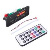Car 12V 2x3W Audio MP3 Player Decoder Board FM Radio TF USB 3.5mm AUX, with Bluetooth & Recording Call Function & Remote Control