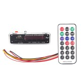 Car Color Screen 12V Audio MP3 Player Decoder Board FM Radio SD Card USB, with Bluetooth Function & Remote Control