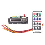 Car 12V Color Screen Audio MP3 Player Decoder Board FM Radio TF Card USB, with Bluetooth Function & Remote Control