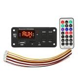 Car 12V Color Screen Display Bluetooth 5.0 Audio MP3 Player Decoder Board FM Radio TF Card USB 3.5mm AUX, with Remote Control