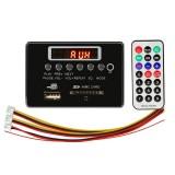 Car 12V Audio MP3 Player Decoder Board FM Radio SD Card USB AUX, with Bluetooth / Remote Control (Black)