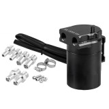 Universal Racing Aluminum Alloy Oil Catch Can Oil Tank Breather Tank, Capacity: 300ML (Black)