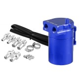 Universal Racing Aluminum Alloy Oil Catch Can Oil Tank Breather Tank, Capacity: 300ML (Blue)