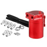 Universal Racing Aluminum Alloy Oil Catch Can Oil Tank Breather Tank, Capacity: 300ML (Red)