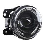 2 PCS 4 inch Car LED Angel Eyes Spotlight Modified Fog Lights for Jeep Wrangler / Dodge / Chrysler PT Cruiser