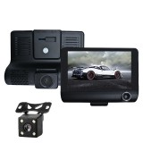 3 in 1 4 inch 170 Degree Wide Angle Night Vision HD 1080P Video Car DVR, Support Motion Detection / G-Sensor