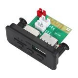 Car 12V Audio MP3 Player Decoder Board FM Radio TF Card USB AUX, with Bluetooth / Remote Control (Black)