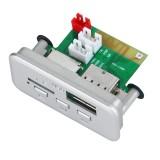 Car 12V Audio MP3 Player Decoder Board FM Radio TF Card USB AUX, with Bluetooth / Remote Control (White)
