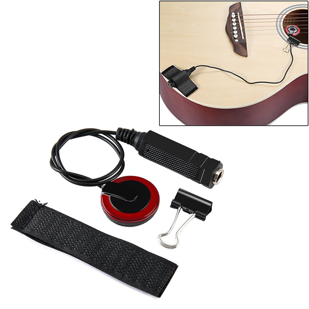 For Wooden Guitar Pasteable Multifunctional Sound Pickup