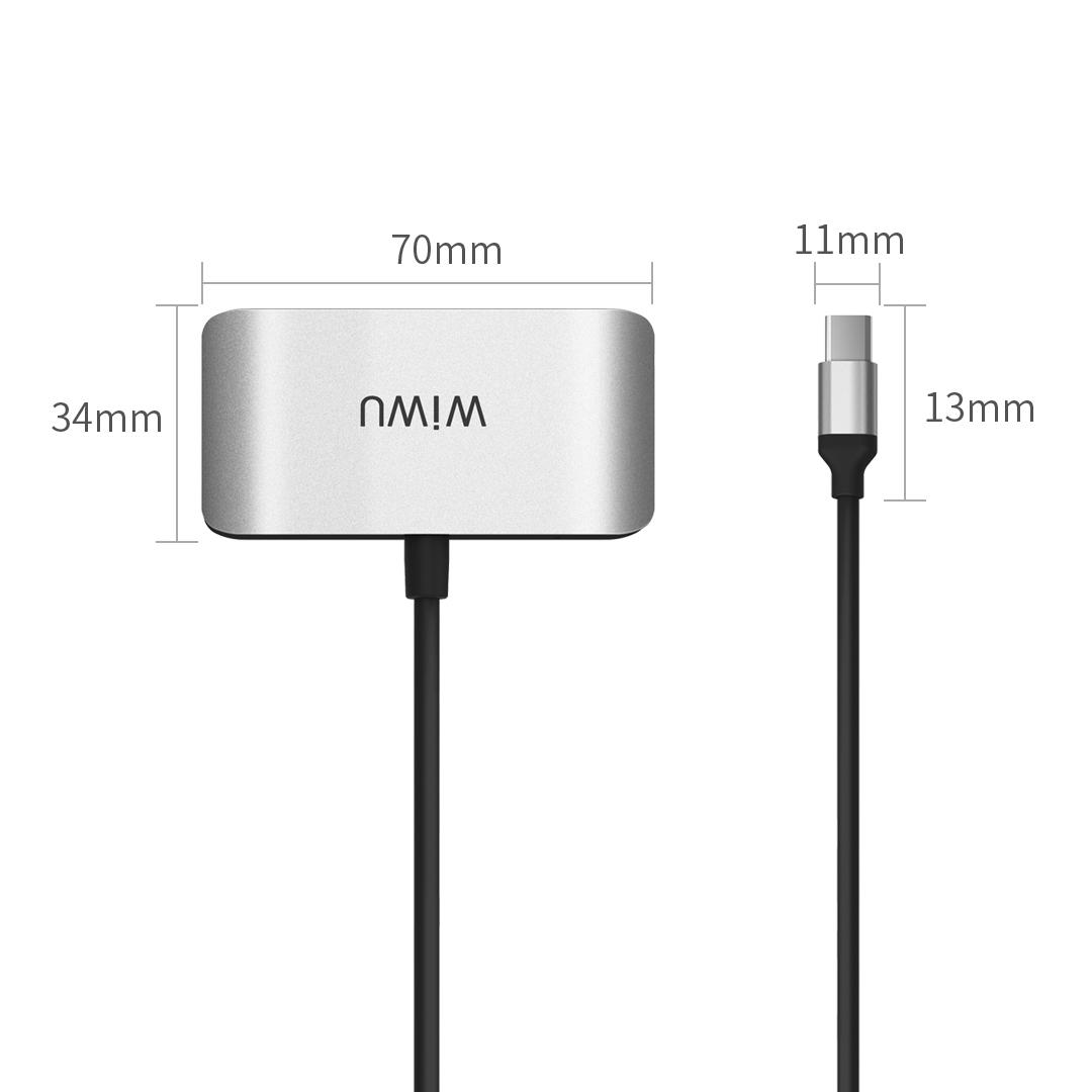 WIWU C2H  3合1 转接器 (https://www.wiwu.net.cn/) 电脑转接器 第2张
