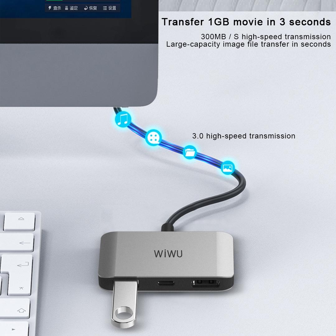 WIWU C2H  3合1 转接器 (https://www.wiwu.net.cn/) 电脑转接器 第4张