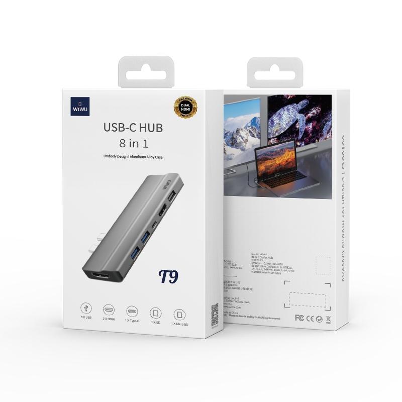 WIWU T9 7 In 1 Type-C / USB-C Multifunctional Extension HUB Adapter