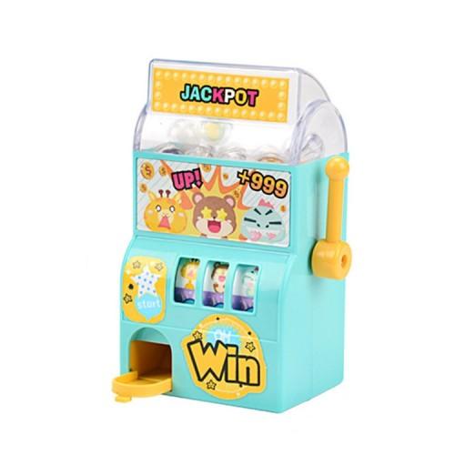 Children Puzzle Mini Shake Machine Game Toy Manual Shake Music Capsule Machine (Trolley Shaker)