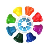 Orff Instrument Eight-tone Bell Percussion Musical Toy for Children, Size: 14.7 x 14.7 x 5.8cm (Colorful)