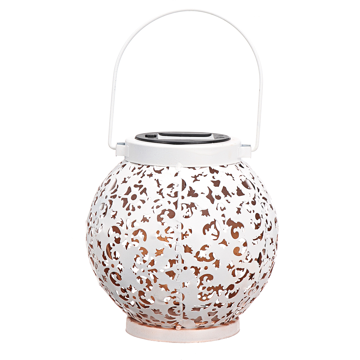 Patio Hollow Indoor Outdoor Solar Power Lantern Hanging Light Garden Lamp Yard