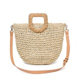 Women Summer Beach Bag Travel Straw Top Handle Big Capacity Handbag