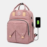 Women Large Capacity Anti-theft Bag Travel Backpack With USB Charging Port