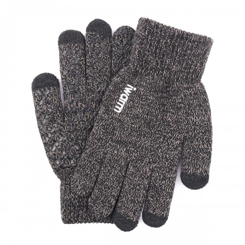 Men Women Winter Knitted Gloves Touch Screen Bicycle Ski Warm Thermal Motorcycle Non-slip Mitten