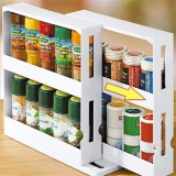 Multi-Function Movable Rotatable Food Condiment Storage Shelf Kitchen Spice Organizer Box Flavouring Tool Rack Camping Picnic