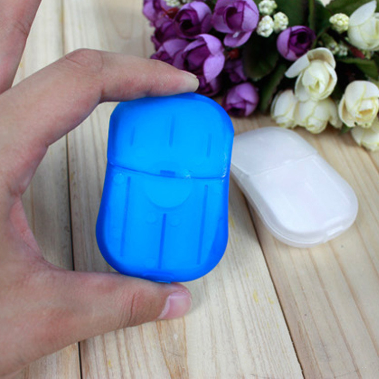 2 PCS IPRee 20 Pcs Paper Soap Outdoor Cleaning Supplies Travel Sterilizer Portable Hand Washing Small Sheet