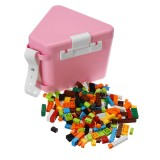 Kids DIY Run Building Blocks Construction Toys Puzzle Race Track Storage Toy Box