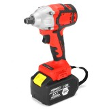 128VF 19800mah Electric Impact Wrench Brushless Cordless Drill Tool With Battery