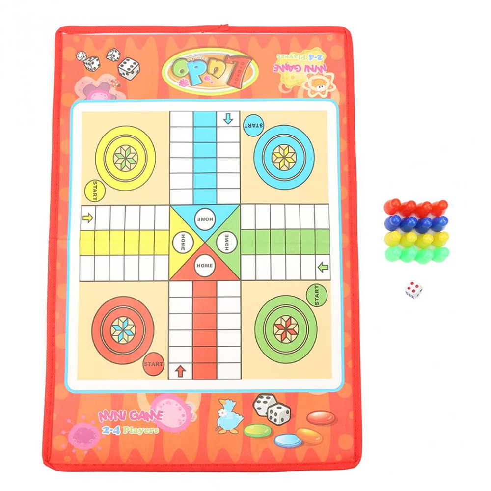 Ludo Chess Children Classic Fying Chess Game Family Party Kids Fun Board Game Educational Indoor Toys