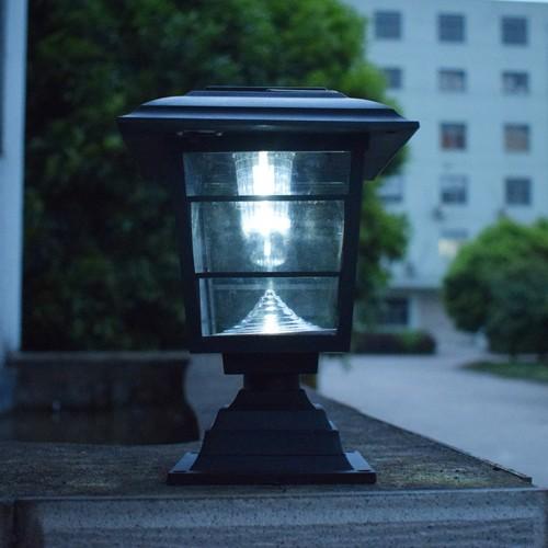 Solar Post Cap Lawn Lamp Outdoor Garden LED Waterproof Decorative Wall Light