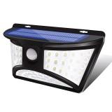 68 LED Solar Powered PIR Motion Sensor Light Outdoor Garden Security Flood Lamp