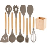 Kitchen Silicone Spatula Utensil Set Non-Stick for Cooking Kitchen Gadgets Tools