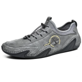 Men Genuine Leather Soft Slip Resistant Sole Casual Daily Hiking Shoes