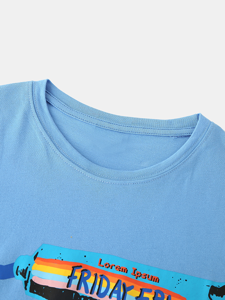 Mens Funny Toothpaste Print Crew Neck Casual Short Sleeve T-Shirts