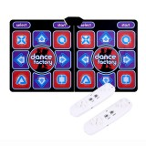 Wired Dancing Mat Pad Computer TV Slimming Dance Blanket with Two Somatosensory Gamepad Version
