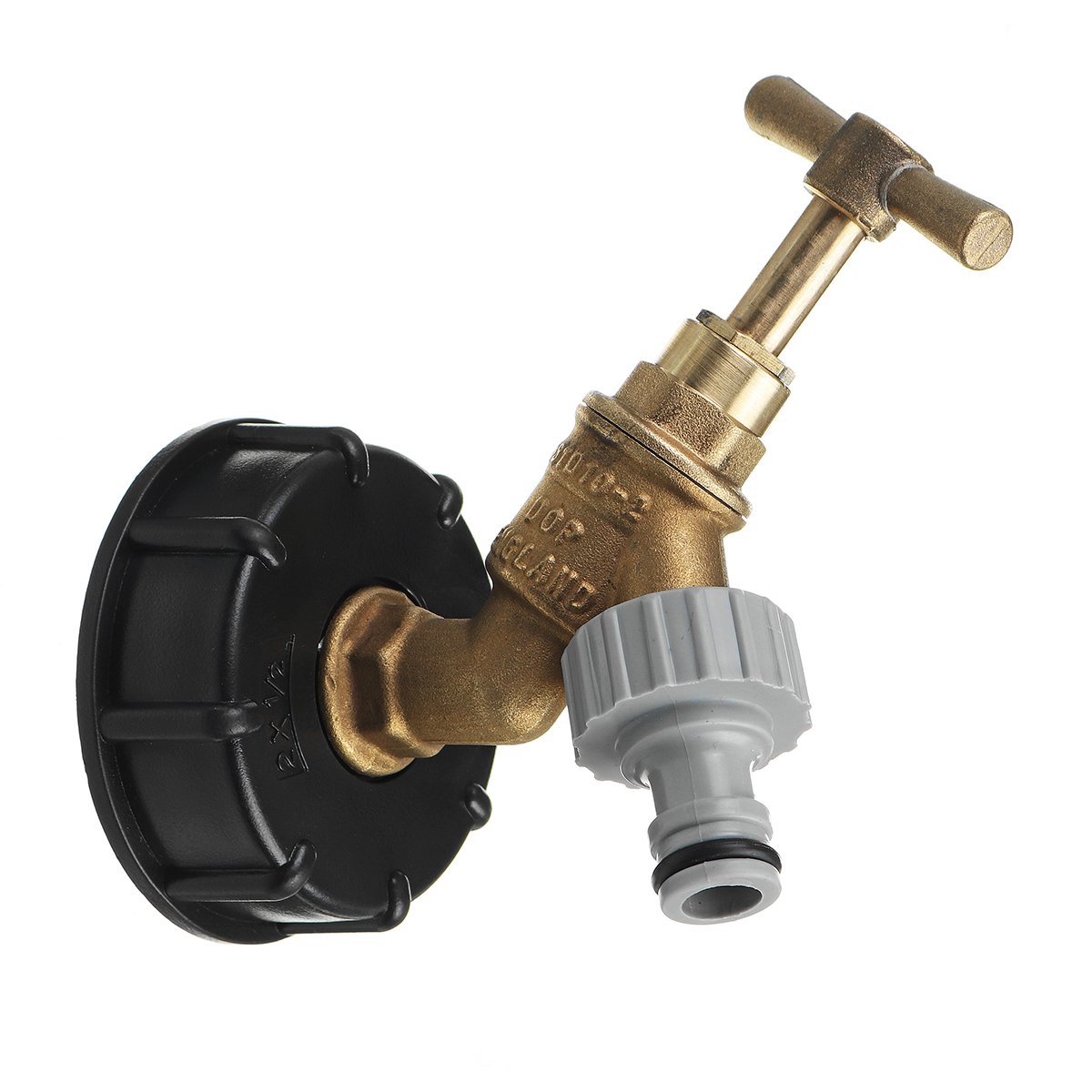 1/2 Inch S60x6 IBC Water Tank Adapter Tap Outlet Replacement Valve Fitting for Garden Water Connector