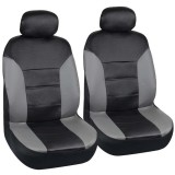 5 Seats Universal PU Leather Car Cover Seat Protector Cushion Black Front Cover