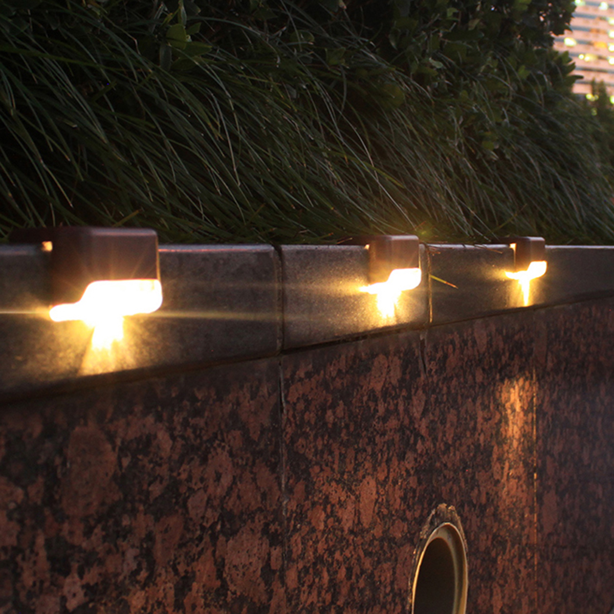 Solar LED Bright Deck Lights Outdoor Garden Patio Railing Decks Path Lighting