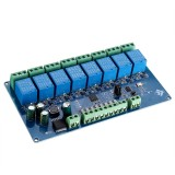Modbus RTU Octal Relay Module RS485 / TTL UART 8 Inputs 8 Outputs Switch Board