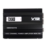 K-705 12V 3800W Car Audio Stereo Power Amplifier 4 Channel Class A/B 3D Stereo Surround Subwoofer