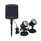 LED Underwater Spot Landscape Solar Lights 6V IP68 Garden Fountain Pond Lamp