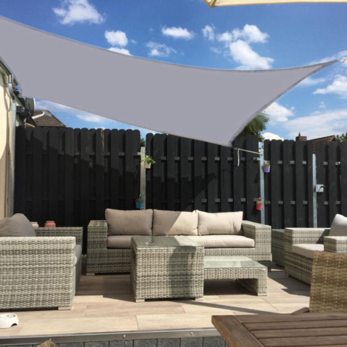 4x3m Waterproof Sun Shade Sail UV Proof Block Outdoor Canopy Patio Garden Yard Pool Cover