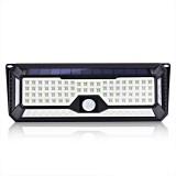 136 LED Four-sided Solar Garden Light Body PIR Motion Sensor Lamp 3400mAh Yard