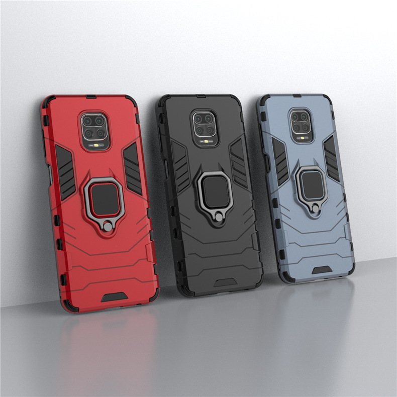 Bakeey Armor Shockproof Magnetic with 360 Rotation Finger Ring Holder Stand PC Protective Case for Xiaomi Redmi Note 9S / Redmi Note 9 Pro / Redmi Note 9 Pro Max