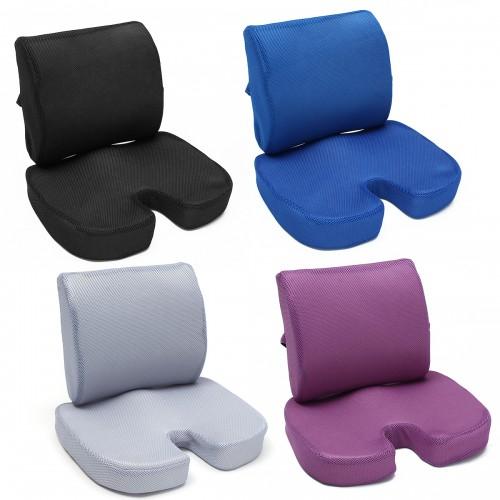Orthopedic Memory Foam Seat Cushion Waist Pillow Tailbone Lumbar Back Support Office Home