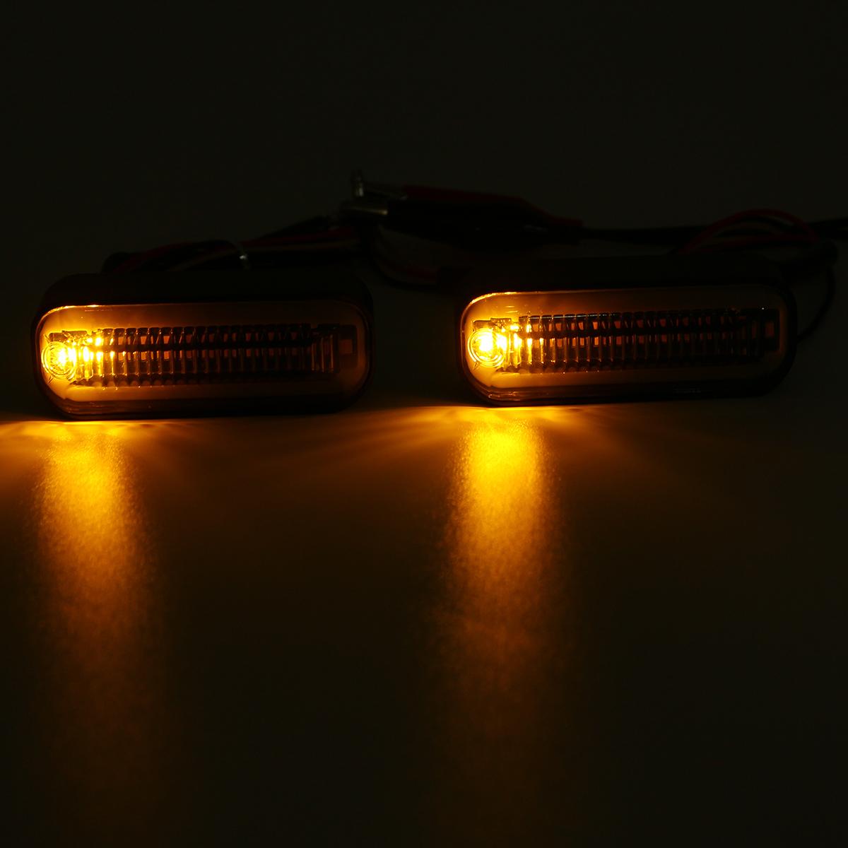 12V Motorcycle Flowing LED Turn Signal Water Running Indicators Lights Universal