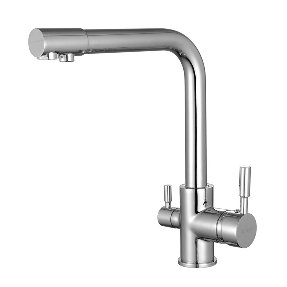 Brass Kitchen Bathroom Hot Cold Faucet Tap Chrom Fashion Design Water Saving Mixer Tap